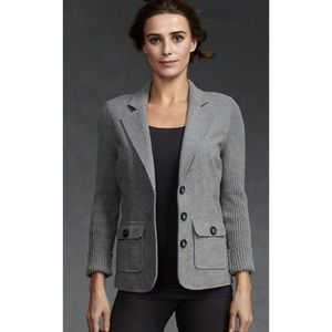 Cabi Half & Half Felted Wool Ribbed Knit Jacket